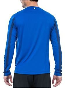 FILA Mens Athletic Long Sleeve Crew Neck Pullover Top Shirt~Blue~Sz-M, L, XL,2XL
