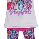My Little Pony Pals Girl's 2 pc legging & Tunic Top Set~Sizes-2T & 3T~Hasbro~NWT