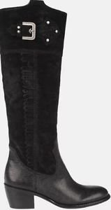 FRANCO SARTO DUKE  Leather Designer Riding Tall Boots~Sz-6.5~BLACK~NIB~reg $225