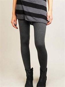 Matty M~ Ladies' Legging Thicker Material Wide Waist Band~Charcoal~Sz-XL~NEW