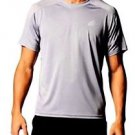 Adidas® Men's S/S Climacore Climalite Althletic Mesh T Shirt~Gray~Sz-XL~NWT