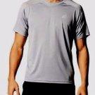 Adidas® Men's S/S Climacore Climalite Althletic Mesh TShirt~Gray~Sz-L~NWT