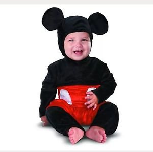 Disguise Disney Mickey Mouse Unisex Halloween Infant Costume~Size~6-12mo~NWT