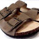 JSport by Jambu Women's Libra Suede Slip on Sandals~Taupe~Sz-8~NEW