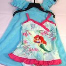 Disney Ariel 2 pc set Swimsuit w/Terry Cover-up~Sz-3t~Aqua/Pink~UPF 50~NWT