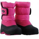 KHOMBU Girls 20F Snow Trekker Boots~PINK~Kids Size 1~Waterproof~NWT