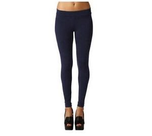 Matty M~ Ladies' Legging Thicker Material Wide Waist Band~Admiral Blue~Sz-S~NWT