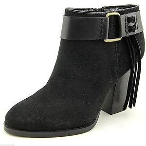 Kensie Ladies Massey Suede Ankle Boot US Sz-7~Black~NIB~ret-$129.