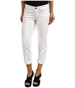 Calvin Klein Jeans Womens Power Stretch Skinny Crop Pant~White~Sz-6~NWT~ret-$69.