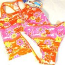 Speedo Girls 2 Pc Swim Suit~Tankini~Orange/Pink/Yellow~ Flowers~Sz-14~ NWT