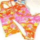 Speedo Girls 2 Pc Swim Suit~Tankini~Orange/Pink/Yellow~ Flowers~Sz-14~ NWT
