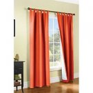 "ThermaLogic Weathermate Energy Efficient Insulated  Curtains~CORAL~80""x54""~NEW"