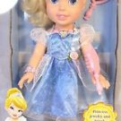 MY FIRST DISNEY Cinderella PRINCESS DOLL~16 in~w/JEWELRy, BRUSH, Mirror~NIB