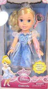 MY FIRST DISNEY Cinderella PRINCESS DOLL~16 in~w/JEWELRy, BRUSH, Mirror~NIB