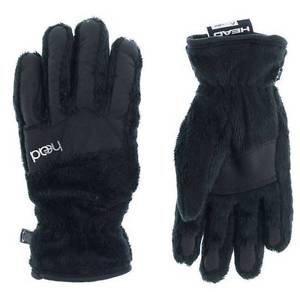 Head Jr.Thermal Fleece Winter Ski/Snowboard Gloves~BLACK~Sz-L-age-11-14NWT