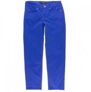 Calvin Klein Jeans Womens Power Stretch Skinny Crop Pant~Blue~Sz-6~NWT~ret-$69.