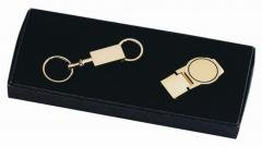 24k Gold-Plated Money Clip & Key Ring Gift Set