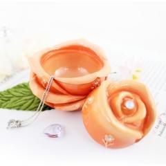 Bella Rosa Flower Jewelry Box Orange