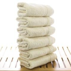 Luxury Hotel & Spa Towel 100% Genuine Turkish Cotton Hand Towels - Beige - Bamboo - Set of 6