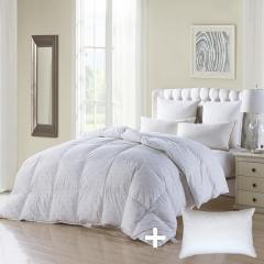 Printing 100% Cotton, Goose Down Comforter - white goose Down comforter