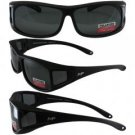 Sideshow Black Frame Polarized Smoke Lenses