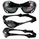 Birdz Seahawk Floating Polarized Sunglasses with Built in Strap Black Frame