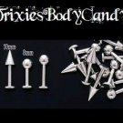 **New Price**   14g, Labret with Ball, 8mm