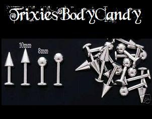 **New Price**   14g, Labret with Ball, 10mm