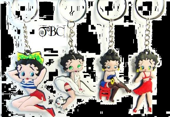 **New Price**   48 Betty Boop keychains, 8 styles, 6 of each, great to resell