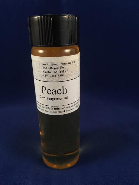 Peach fragrance oil one half ounce with glass dropper