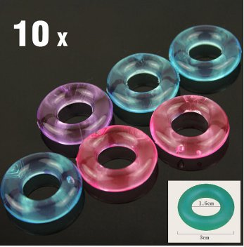 10 piece Penis Ring Delaying Ejaculation Silicone Cock Rings