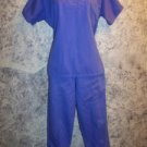 COTTONALITY women's size S small scrubs top pants set v-neck pullover purple GUC
