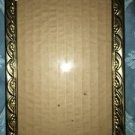 Vintage gold brass metal raise detail embossed ball foot picture frame easel 5x7