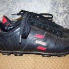 Women's size 6 WORTH soccer cleats red black GUC athletic shoes sports manmade
