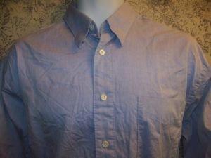 Men's size 15.5 34/35 HUGO BOSS button down casual dress shirt stretch blue work