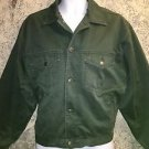 "Vintage GAP green denim jean jacket coat work casual lined men's M-L 50"" chest"