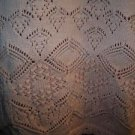 Vintage peach cotton short sleeve sweater HAROT women M decorative knit pattern