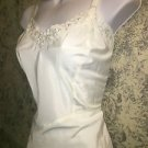 Vintage 60s BARBIZON Ariel taffeta side zipper full slip eyelet embroidery 18