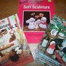 3 Soft Sculpture Apple Dumplins' instructions patterns dolls craft sewing books