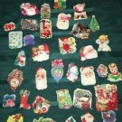 Vintage 40s-60s CHRISTmas seals stickers lot 37 tree wreath angels children GVC