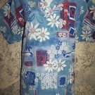 Women size M scrubs nurse uniform top v-neck pullover abstract artsy flowers GUC