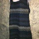 SOHO crochet varigated blue sleeveless dress woman plus 2X hippie boho retro