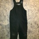 Boy girl winter bib overall snow pants black  adjustable snowpant 6/7 zippered