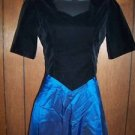 Womens size 5/6 formal blue iridescent full length dress GUC formal cocktail