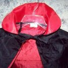 Black red goth collar cape cloak reversible Halloween costume adult 1 size NEW