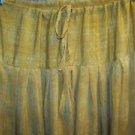 Salwar pleated baggy harem trouser India yoga mustard yellow paisley print pants
