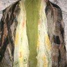 Lot 5 fashion scarves scarf 4 oblong long 1 square chiffon silk? vintage retro