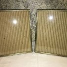 2 vintage gold brass metal embossed photo picture frames 8x10 MCM beaded edge