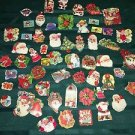 Vintage 40s-60s CHRISTmas seals stickers lot 60 tree wreath angels children GVC