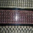"Christmas ribbon 10 yards 2.5"" metallic crochected gold"
